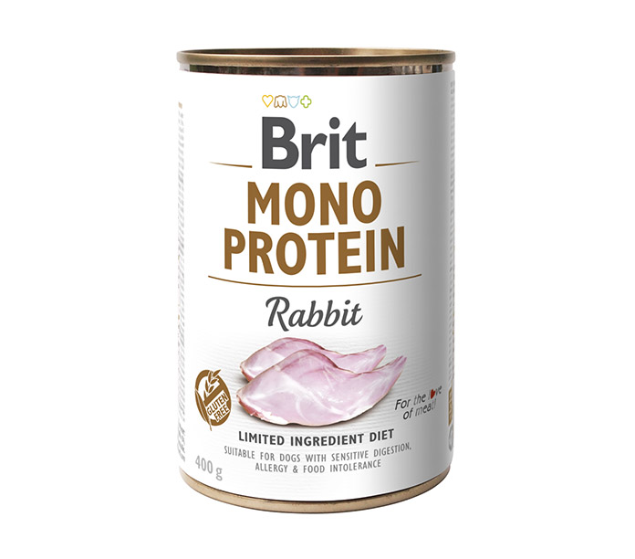 Консерва BRIT MONO PROTEIN RABBIT для собак 400г